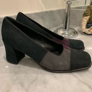 Vintage Franco Sarto Suede Block Heels